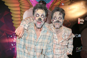 Lawrence Zarian and Gregory Zarian are seen attending Gay Men's Chorus of Los Angeles Presents 12th Annual 'Fred and Jason's Halloweenie at Belasco Theater in Los Angeles, California.
