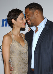 Michael Strahan Nicole Murphy 2008 Clive Davis Pre-Grammy Party