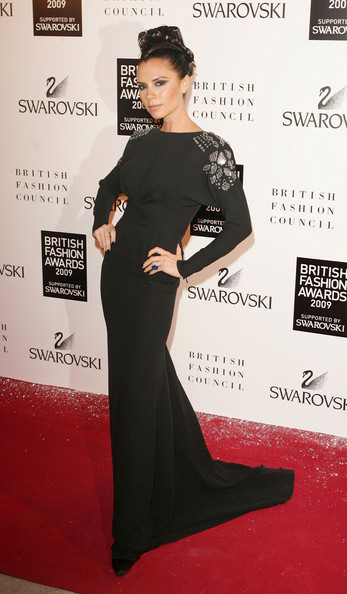 Victoria Beckham The 2009 British Fashion Awards at The Royal Courts of Justice.
