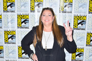 Camryn Manheim is seen at the press line for 'Stumptown' panel at 2019 Comic-Con International - Day 1 in San Diego, California.