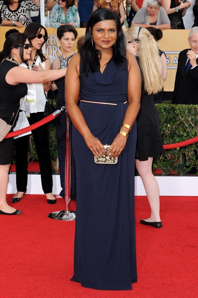 20th Annual Screen Actors Guild Awards..Shrine Auditorium, Los Angeles, CA..January 18, 2014..Job: 140118A1..(Photo by Axelle Woussen/Bauer-Griffin)..Pictured: Mindy Kaling.