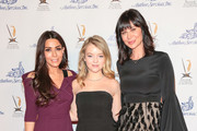 Marisol Nichols, Jade Pettyjohn and Catherine Bell are seen attending the 34th Annual L. Ron Hubbard Achievement Awards Gala - Magic & Wizardry at The MacArthur in Los Angeles, California.