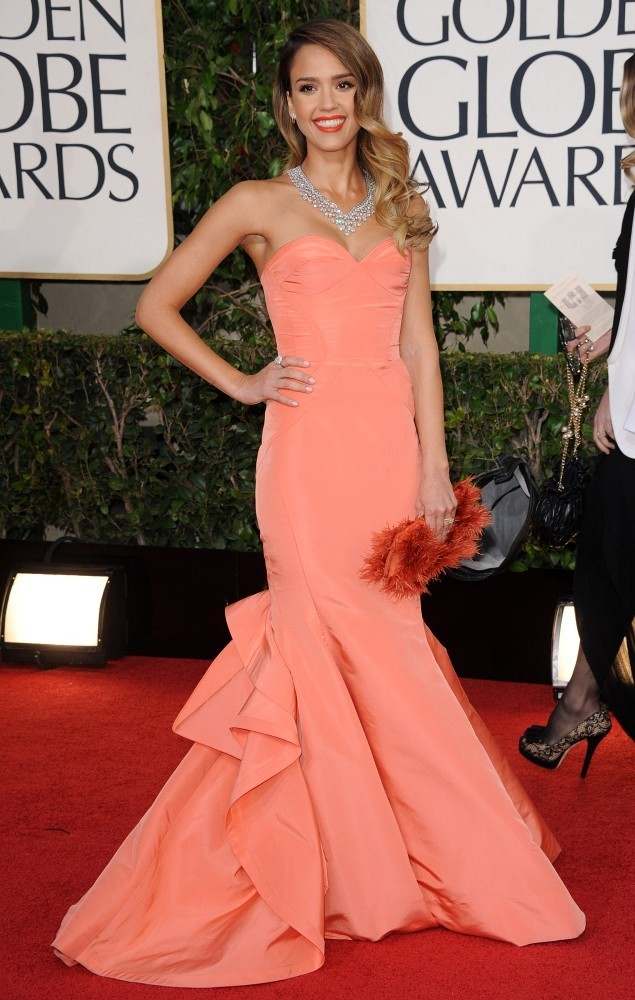 70th Annual Golden Globe Awards..The Beverly Hilton, Beverly Hills, CA..January 13, 2013..Job: 130113A1..(Photo by Axelle Woussen)..Pictured: Jessica Alba...