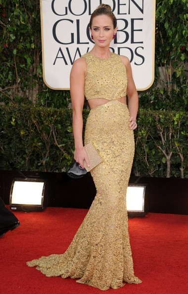 70th Annual Golden Globe Awards..The Beverly Hilton, Beverly Hills, CA..January 13, 2013..Job: 130113A1..(Photo by Axelle Woussen)..Pictured: Emily Blunt...