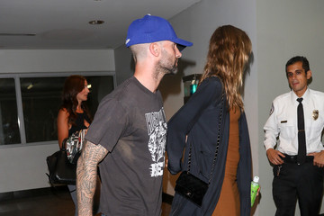 Adam Levine Adam Levine and Behati Prinsloo in Hollywood