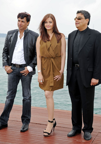 Aishwarya Rai Aishwarya Rai Bachchan attend a press conference to promote 'Heroine' on the Majestic Pier during the 64th Cannes Film Festival.