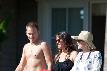 Souleye Alanis Morissette and her Husband at a Resort