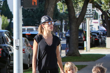 Alessandra Ambrosio Noah Mazur Alessandra Ambrosio Goes Out With Her Son