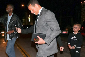 Alex Rodriguez Alex Rodriguez Outside Craig's Restaurant In West Hollywood