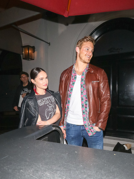 Alexander Ludwig And Paola Nunez Outside Craig's Restaurant In West Hollywood