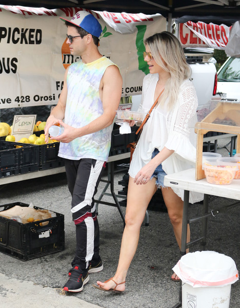 Celebrities At The Farmer's Market In Los Angeles