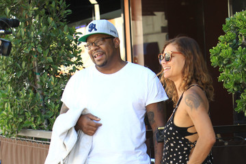 Alicia Etheredge Bobby Brown and Alicia Etheredge in Los Angeles