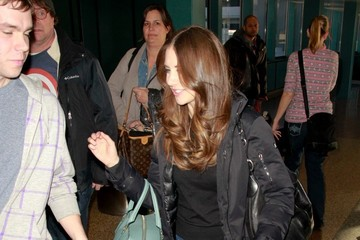 Alison Brie Celebs Spotted at the Salt Lake City Airport