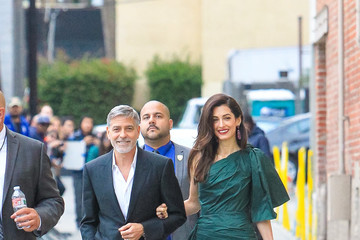 Amal Clooney George Clooney And Amal Clooney At 'Jimmy Kimmel Live'