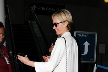 Amber Valletta Amber Valletta Is Seen at LAX