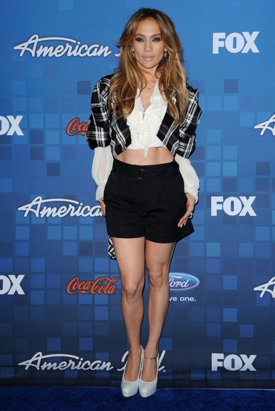 Jennifer+Lopez in American Idol Finalist Party