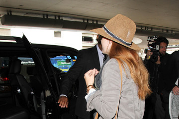 Amy Adams Amy Adams and Family Are Seen at LAX