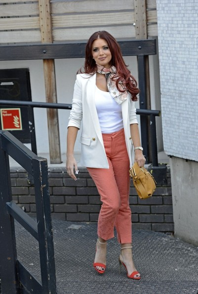 23rd April 2013.  Amy Childs seen at the London Studios today.