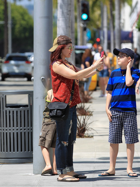 Amy Yasbeck Out in Beverly Hills