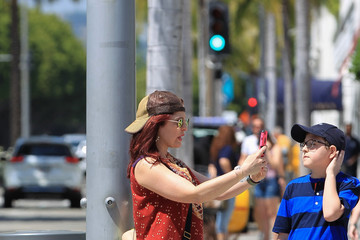 Amy Yasbeck Amy Yasbeck Out in Beverly Hills