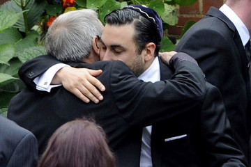 Alex Winehouse Arrivals at Amy Winehouse's Funeral