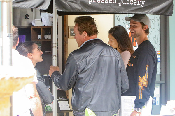 Arnold Schwarzenegger and Son Patrick Spotted in Los Angeles