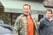 Arnold Schwarzenegger and his son Patrick Schwarzenegger are spotted together on May 31, 2017.