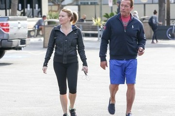 Arnold Schwarzenegger Arnold Schwarzenegger and Heather Milligan Out and About
