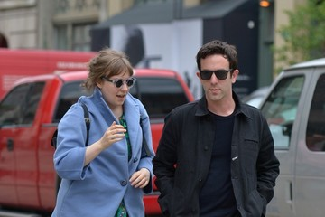 B.J. Novak Lena Dunham and B.J. Novak Out in NYC