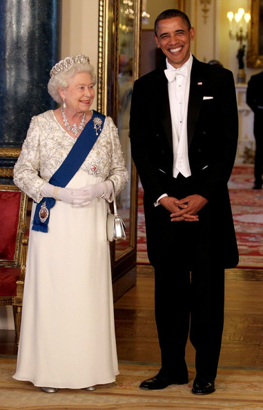 Queen Elizabeth II and Barack Obama - The Obamas Attend the State Banquet