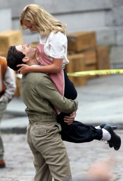 "Ben Barnes and French actress, Nora Arnezeder, film a scene for ""The Words"" as two young lovers reunited in 1940's Paris."