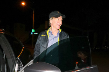 Bill Maher George Hamilton And Alana Stewart Outside Craig's Restaurant In West Hollywood