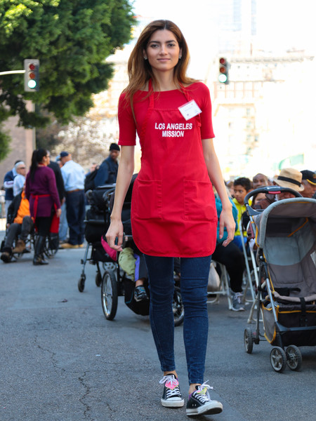 Celebrities Are Seen at LA Mission Thanksgiving Dinner for the Homeless