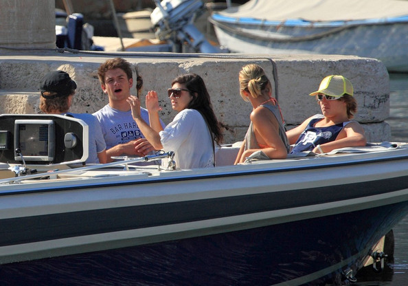 Jon Bon Jovi and his family, wife Dorothea, sons Jesse, Jacob, and Romeo, and daughter Stephanie, board a boat to an awaiting yacht as they enjoy a family vacation in Croatia.