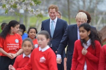 Boris Johnson Prince Harry Visits Queen Elizabeth Olympic Park