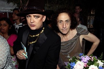 Philip Salon Boy George's 50th birthday bash