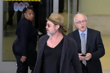 Brad Pitt Brad Pitt Seen at LAX