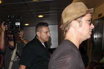 Brad Pitt Brad Pitt is Seen at LAX