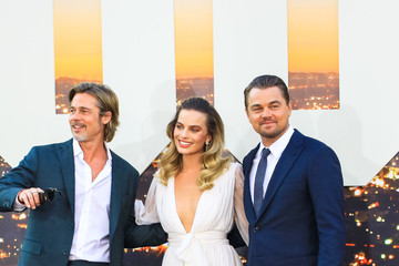 Brad Pitt Margot Robbie 'Once Upon A Time In Hollywood' Los Angeles Premiere