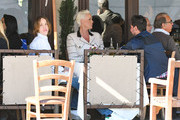 Brigitte Nielsen, her son Raoul Meyer Jr., and her husband, Mattia Dessi are seen in Los Angeles, California on February 22, 2019.