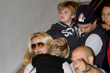 Britney Spears Jason Trawick Britney Spears and Family at LAX