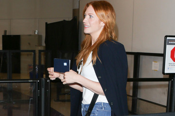 Brittany Snow Brittany Snow Arrives at LAX