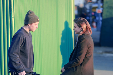Brooklyn Beckham Chloe Grace Moretz on the Set of 'The Widow'