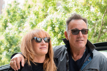 Bruce Springsteen Bruce Springsteen and Patti Scialfa Out and About