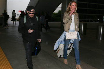 Cameron Diaz Cameron Diaz and Benji Madden Are Seen at LAX