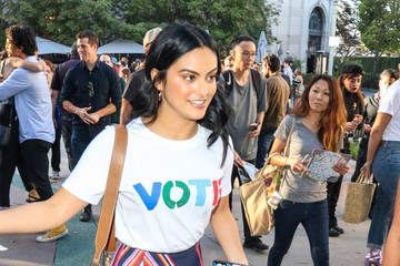Camila Mendes Camila Mendes Outside ArcLight Theatre In Culver City