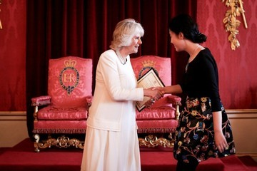 Camilla Parker Bowles The Queen's Commonwealth Essay Competition Awards