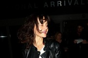 Carla Gugino is seen at LAX