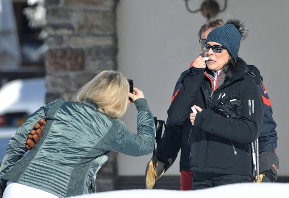 Caroline Of Monaco On The Slopes Zimbio