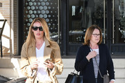 Cat Deeley and mom Janet Deeley are seen in Los Angeles, California.